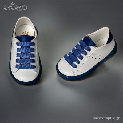 Δίχρωμα Δερμάτινα Sneakers Everkid 9167A