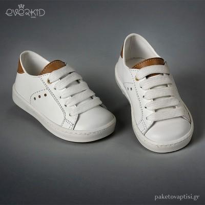 Δίχρωμα Δερμάτινα Sneakers Everkid 9167T