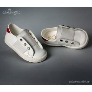 Δερμάτινα Sneakers με Τρούκς Everkid 9168B