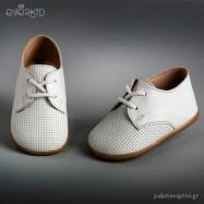 Λευκά Δερμάτινα Παπουτσάκια για τα Πρώτα Βήματα Everkid 9120A