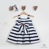 Βαπτιστικό Ναυτικό Φόρεμα | Angel Wings 9794