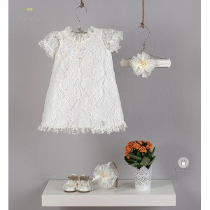 Βαπτιστικό Φόρεμα Δαντέλα Angel Wings 205
