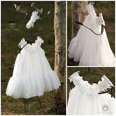 Βαπτιστικό Φόρεμα Άναμπελ | Angel Wings 002