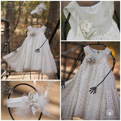 Βαπτιστικό Φόρεμα Φίφι | Angel Wings 004