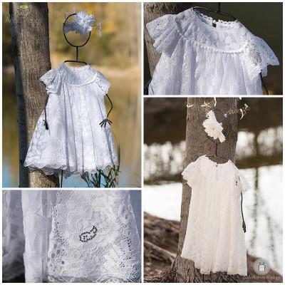 Βαπτιστικό Φόρεμα Ρετρό | Angel Wings 007