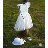 Βαπτιστικό Φόρεμα Κάντυ Εκρού | Angel Wings 0092
