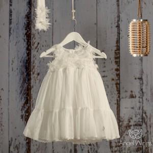 Βαπτιστικό Off White Φόρεμα Nymph | Angel Wings 055