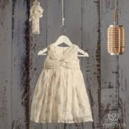 Βαπτιστικό Εκρού Φόρεμα Martini   Angel Wings 056
