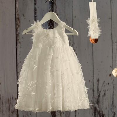 Βαπτιστικό Λευκό Φόρεμα Fiona | Angel Wings 061