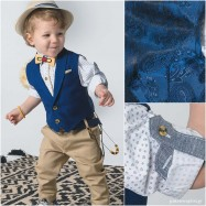Βαπτιστικό Ρούχο για Αγόρια Μπλε Ταμπά Bonito 19105