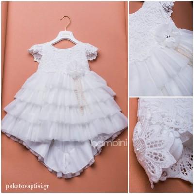 Βαπτιστικό Φόρεμα Dolce Bambini 303-1