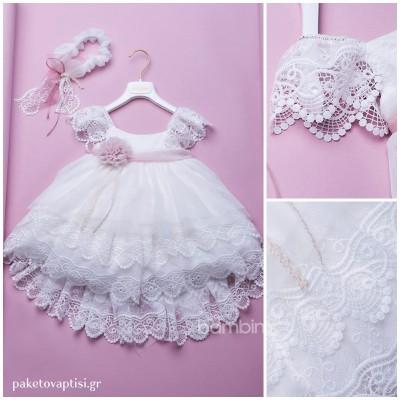 Βαπτιστικό Φόρεμα Dolce Bambini 335-1