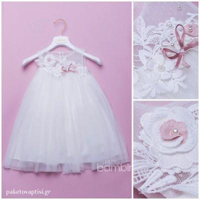 Βαπτιστικό Φόρεμα Dolce Bambini 373-1