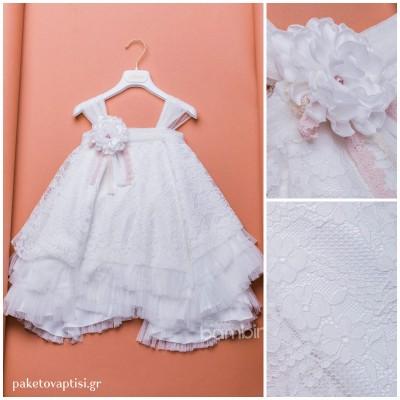 Βαπτιστικό Φόρεμα Dolce Bambini 383-1