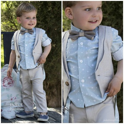 Βαπτιστικό Ρούχο για Αγόρια Dolce Bambini 2525
