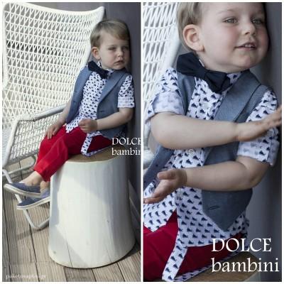 Βαπτιστικό Ρούχο για Αγόρια Dolce Bambini 2533