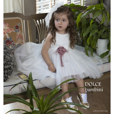 Βαπτιστικό Φόρεμα Dolce Bambini 484-1
