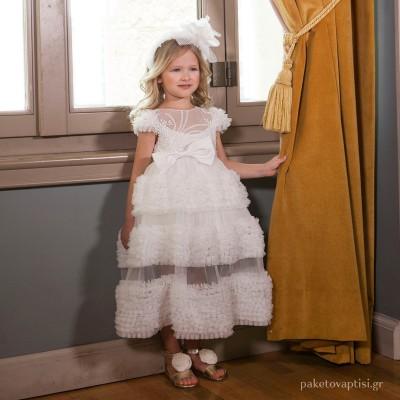 Βαπτιστικό Φόρεμα Dolce Bambini 6002