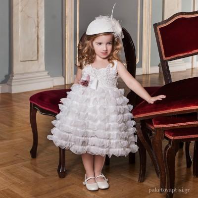 Βαπτιστικό Φόρεμα Dolce Bambini 6012