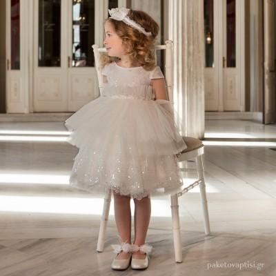 Βαπτιστικό Φόρεμα Dolce Bambini 6038