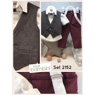 Χειμερινό Βαπτιστικό Ρούχο για Αγόρια Dolce Bambini 2152