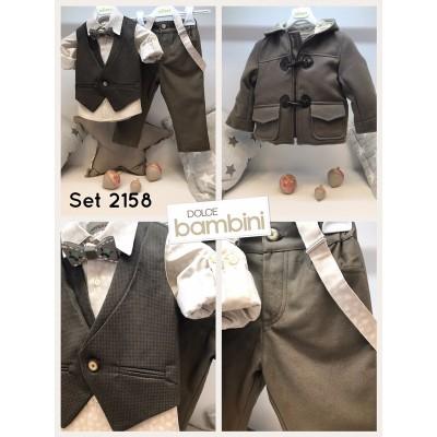 Χειμερινό Βαπτιστικό Ρούχο για Αγόρια Dolce Bambini 2158