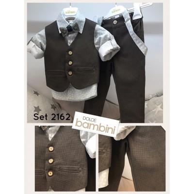 Χειμερινό Βαπτιστικό Ρούχο για Αγόρια Dolce Bambini 2162