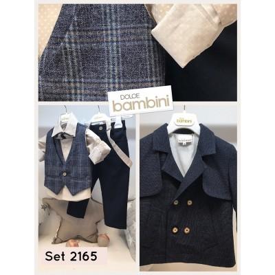 Χειμερινό Βαπτιστικό Ρούχο για Αγόρια Dolce Bambini 2165