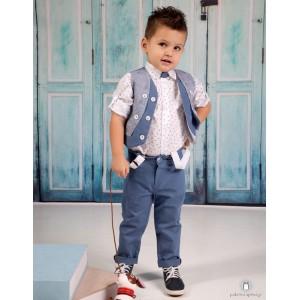 Βαπτιστικό Ρούχο για Αγόρια Μπλε Ραφ Mi Chiamo Α4171