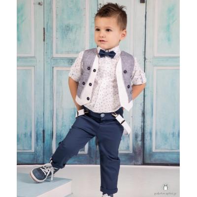 Βαπτιστικό Ρούχο για Αγόρια Μπλε Ραφ Mi Chiamo Α4172