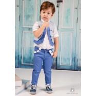 Βαπτιστικό Ρούχο για Αγόρια Μπλε Mi Chiamo Α4173