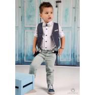Βαπτιστικό Ρούχο για Αγόρια Μπλε Φυστικί Mi Chiamo Α4178