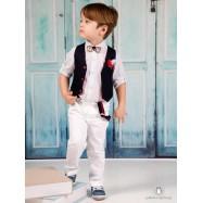 Βαπτιστικό Ρούχο για Αγόρια Μπλε Λευκό Mi Chiamo Α4182
