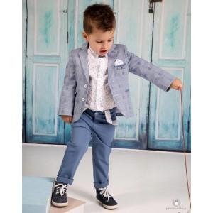 Βαπτιστικό Ρούχο για Αγόρια Μπλε Ραφ Mi Chiamo Α4184