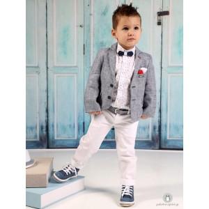 Βαπτιστικό Ρούχο για Αγόρια Λευκό Μπλε-Γκρι Mi Chiamo Α4185