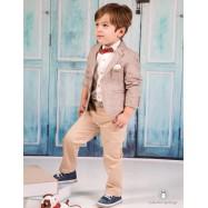 Βαπτιστικό Ρούχο για Αγόρια Μπεζ Mi Chiamo Α4185