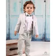 Βαπτιστικό Ρούχο για Αγόρια Φυστικί Mi Chiamo Α4193