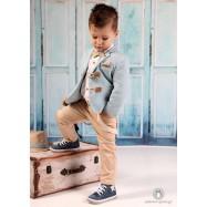 Βαπτιστικό Ρούχο για Αγόρια Σιέλ Μπεζ Mi Chiamo Α4196