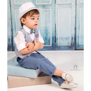 Βαπτιστικό Ρούχο για Αγόρια Μπλε Ραφ Mi Chiamo Α4203