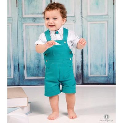 Βαπτιστικό Ρούχο για Αγόρια Τιρκουάζ Λευκό Mi Chiamo Α4206