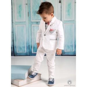 Βαπτιστικό Σακάκι Λευκό Mi Chiamo Α4207