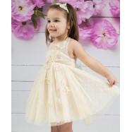 Βαπτιστικό Φόρεμα Χρυσό Mi Chiamo Κ4146