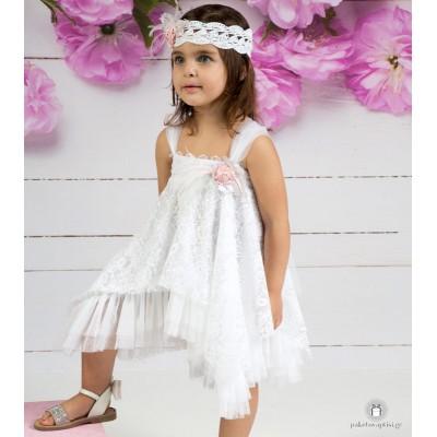 Βαπτιστικό Φόρεμα Λευκό Mi Chiamo Κ4133