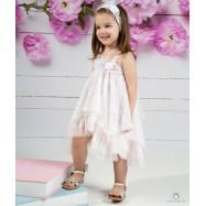 Βαπτιστικό Φόρεμα Ροζ Mi Chiamo Κ4133