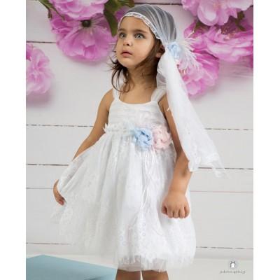 Βαπτιστικό Φόρεμα Λευκό Mi Chiamo Κ4134