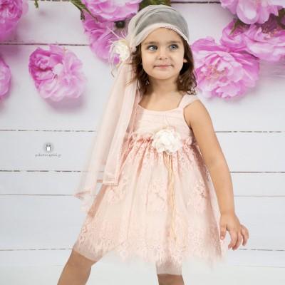 Βαπτιστικό Φόρεμα Σομόν Mi Chiamo Κ4134