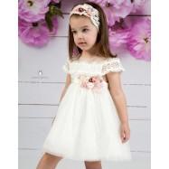 Βαπτιστικό Φόρεμα Ιβουάρ Mi Chiamo Κ4135