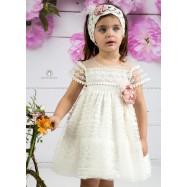 Βαπτιστικό Φόρεμα Εκρού Mi Chiamo Κ4137