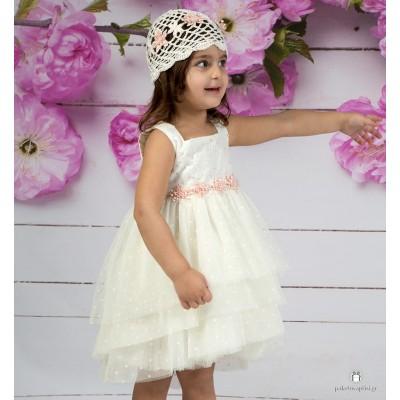 Βαπτιστικό Φόρεμα Εκρού Mi Chiamo Κ4139
