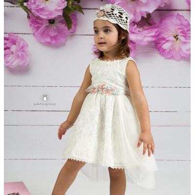 Βαπτιστικό Φόρεμα Εκρού Mi Chiamo Κ4141